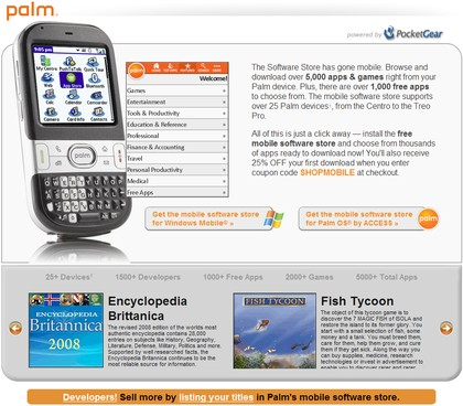 Palm Software Store