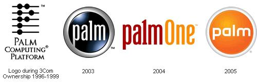 Эволюция эмблемы Palm: Logo Evolution