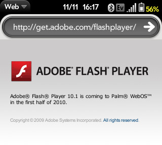 Adobe Flash webOS