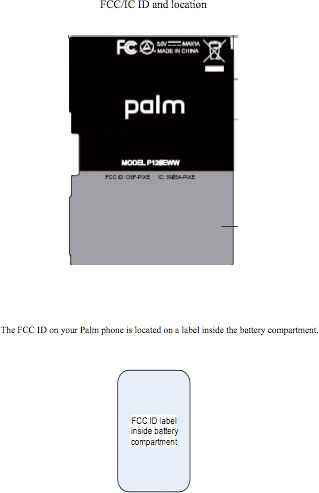 Palm Pixi Pixe FCC