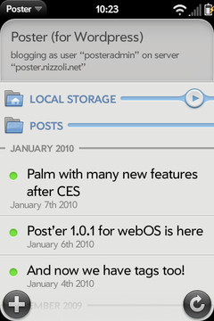 Poster WordPress webOS