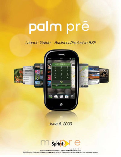 Запуск Sprint Palm Pre / Launch