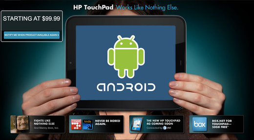 Android на HP TouchPad