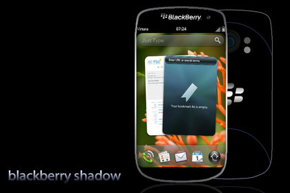 BlackBerry Shadow – концепт смартфона RIM на webOS